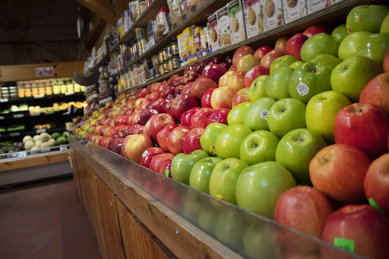 This pictures displays our wide selection of apples!