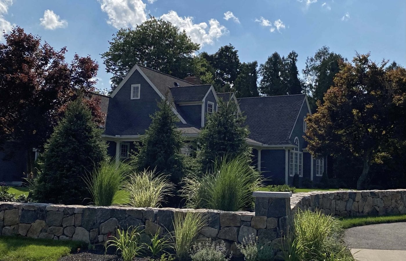 This picture displays the side yard of a recent landscape design project we worked on.