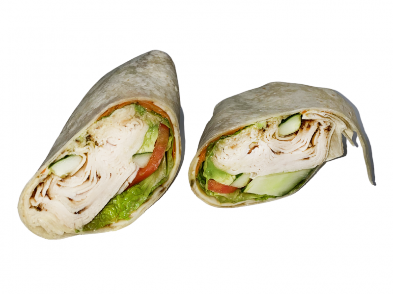 This picture shows our Ichiban wrap in front of a white background.
